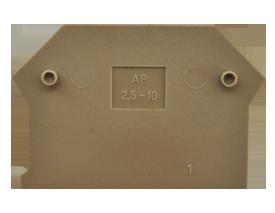 AP 2,5-10 BG Пластина концевая для клемм RK 2,5-10