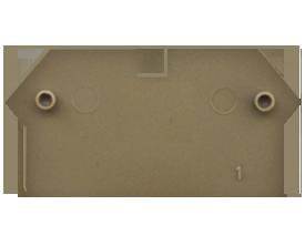 AP 2,5/RL BG Пластина концевая для клемм RK2,5-4 ZRL