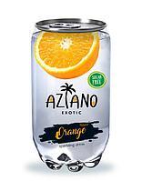 AZIANO  Orange Апельсин 350 ml. /Прозрачная Банка/