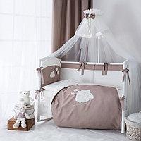 Комплект в кроватку Perina Бамбино 6 предметов капучино