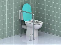 Поручень для инвалидов для ванны трехопорный правый ПВ-10.04.640.640.980.Н Поручень это быстрый и надежный