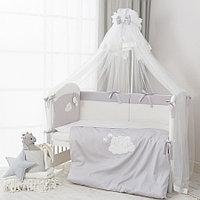 Комплект в кроватку Perina Бамбино 6 предметов серый, фото 1