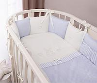 Комплект в кроватку Perina Неженка Oval  голубой 7 предметов, фото 1