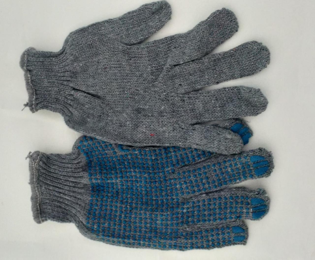Перчатки серые ПВХ