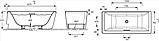 Ванна Evok прямоугольная 168 Х 75 см, фото 3