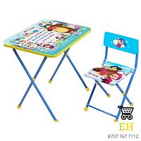 Комплект детской мебели «Маша и медведь»3-7 лет, мягкое сиденье