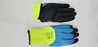 Перчатки прорезиненные синие утепленные -20С