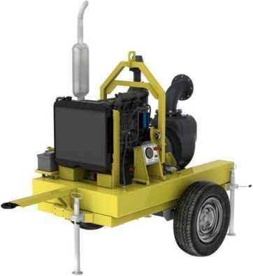 Мотопомпа дизельная MD6-320-P для сильнозагрязненной воды
