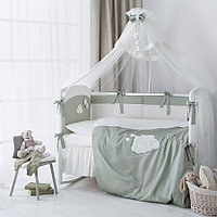Комплект в кроватку Perina Бамбино 3 предмета олива, фото 1