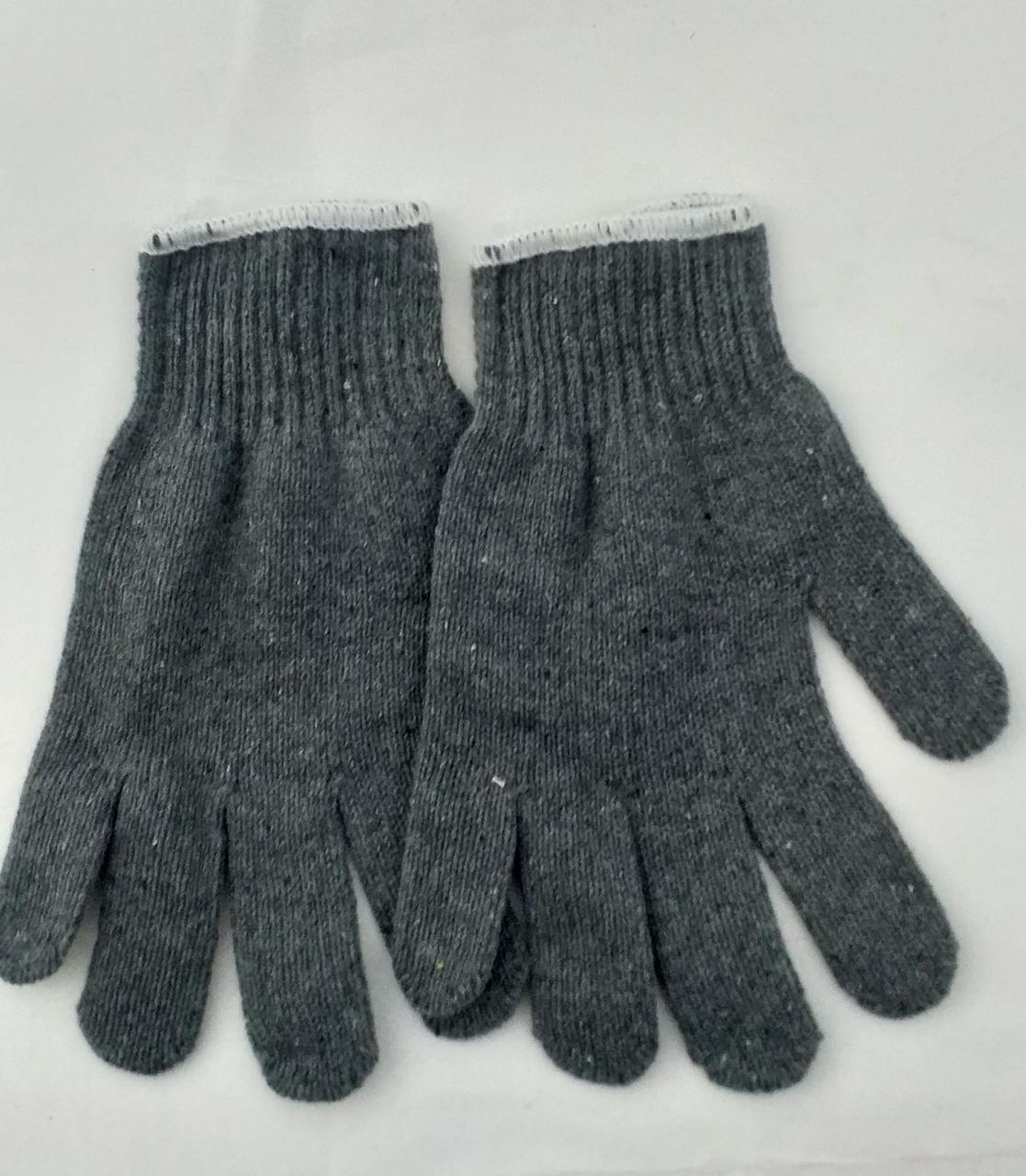 Перчатки серые рабочие