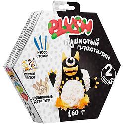"""Пушистый пластилин в коробке """"Plush"""" (чёрный, белый)"""