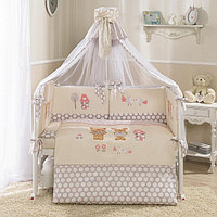 Комплект в кроватку Perina Венеция Лапушки бежевый 3 предмета, фото 1