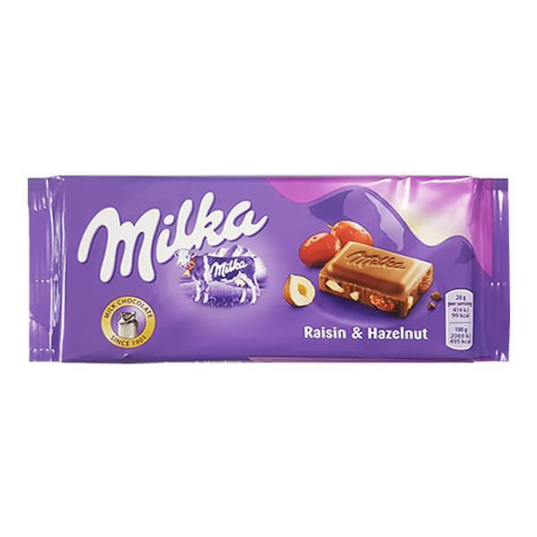 Milka Raisins and Hazelnuts 92гр  (22 шт. в упаковке)