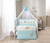 Комплект в кроватку Perina Фея Лето 7 предметов голубой, фото 1