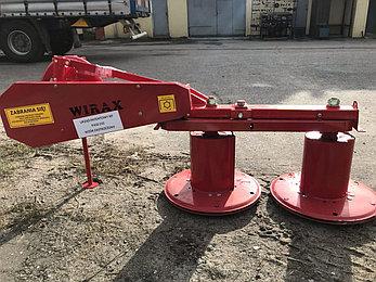Косилка роторная 1.25м Польша Wirax (двухдисковая), фото 2