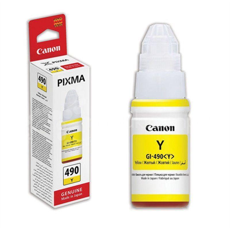Canon 0666C001 Картридж GI-490 Y струйный желтый 70 мл