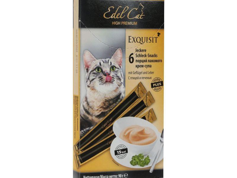 Лакомство для кошек крем-суп Edel Cat с птицей и печенью