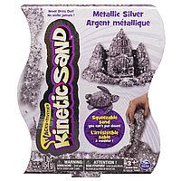 "Песок для лепки Kinetic Sand ""Металлик"", серебристый, 454 г, фото 1"