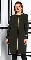 Пальто Lissana-3848, темно-оливковый, 52