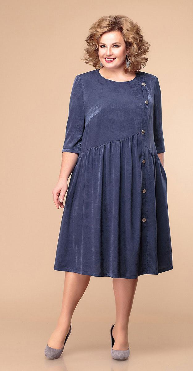 Платье Romanovich-1-1940/1, синий, 58