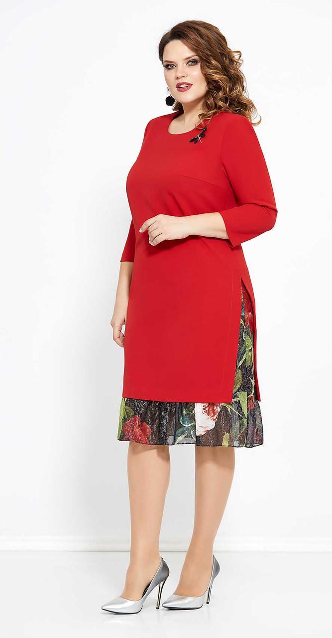 Платье Mira Fashion-4765, красный, 52