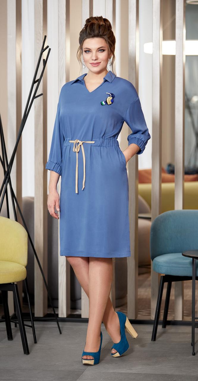 Платье AGATTI-3347, голубой, 52