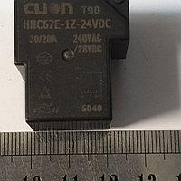 Реле 24VDC 1 группа контактов 30А HHC67E-1Z
