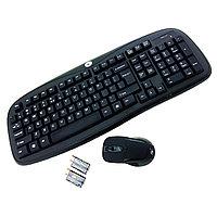 Клавиатура беспроводная + Мышь Lisheng 2,4G RGK-3100 USB, черная, фото 1