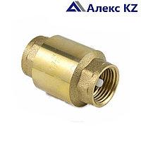 Клапан  обратный осевой латунь 3001 Ду 32 Ру10 шток пластик Aquasfera