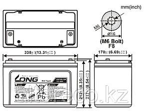 Аккумулятор LONG LGK100-12N (12В, 100Ач), фото 2