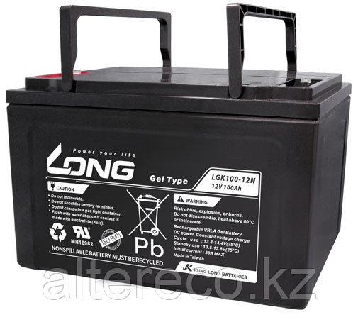 Гелевый аккумулятор LONG LGK100-12N (12В, 100Ач)