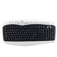Клавиатура проводная Genius KB-28e PS/2, черно-серая