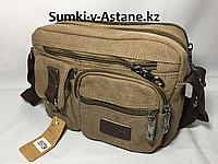 Компактная сумка-почтальонка.Текстиль.Высота 19 см,ширина 23 см, глубина 6 см., фото 1