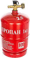 Баллон ВТ-1; 2.4 литра (1 кг) с переходником (Польша)