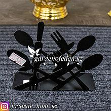 Подставка для салфеток, с декором. Материал: Металл. Цвет: Черный.