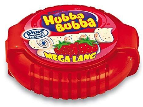 Жевательная резинка в рулетке 1,8м Хубба-Бубба   HUBBA Bubba Snappy Strawberry (красная) 56,7 гр