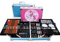 Набор для рисования в кейсе Единорог два яруса большой набор для творчества в ассортименте