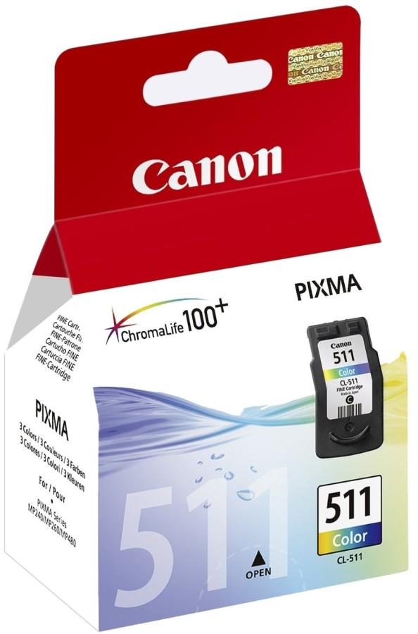 Canon 2972B007 Картридж  CL-511 трехцветный струйный, 9 мл