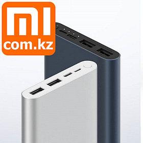 Power bank Xiaomi Mi Power bank 3, 10000mAh, USB/Micro USB/ USB Type-C, 18W fast charge быстрая зарядка