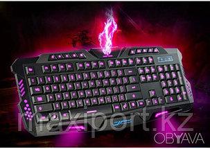 M-200 Pro игровая клавиатура USB с подсветкой 3 цветов, фото 2