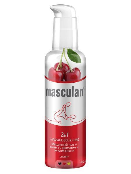 2 В 1 Массажный гель и смазка Masculan с ароматом и вкусом вишни 130 мл