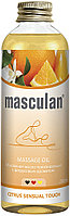 Тонизирующее массажное масло с цитрусовым ароматом Masculan 200 мл