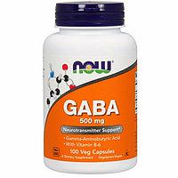 Now Foods, ГАМК, 500 мг, 100 растительных капсул. ГАБА GABA