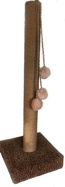 Когтеточка столбик на подставке 120 см