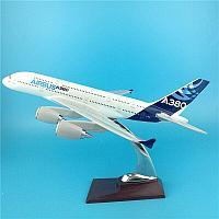 Модель самолета Airbus A380 в фирменной раскраске Airbus, масштаб 1/200