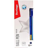 """Ручка шариковая Berlingo """"xGold"""" синяя, 0,7мм, игольчатый стержень, грип, фото 3"""