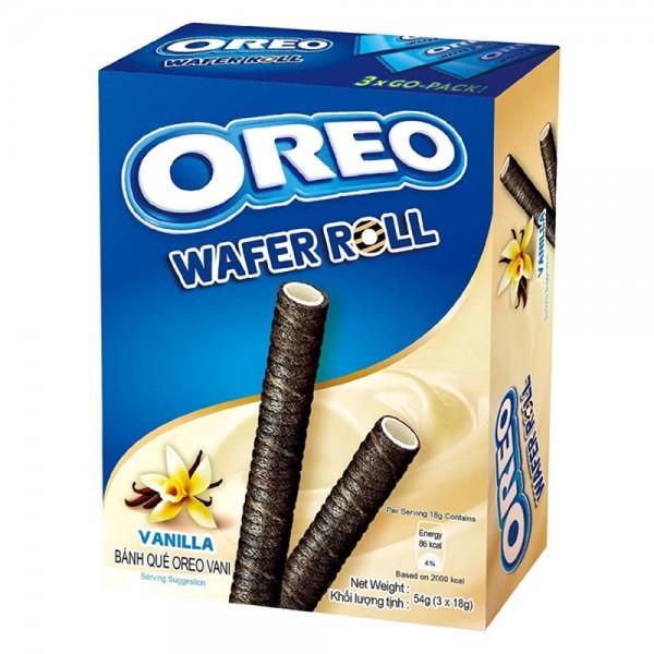 Печенье трубочки Ванила OREO Wafer Roll  54g (20шт-упак)