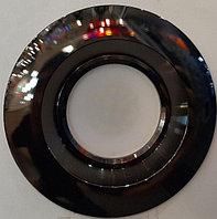 Встраиваемый спот черный металл со сменной лампой