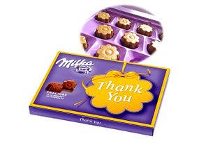 Шоколадные конфеты в коробке Thank you Milka с молочным кремом 110 гр (10шт-упак)
