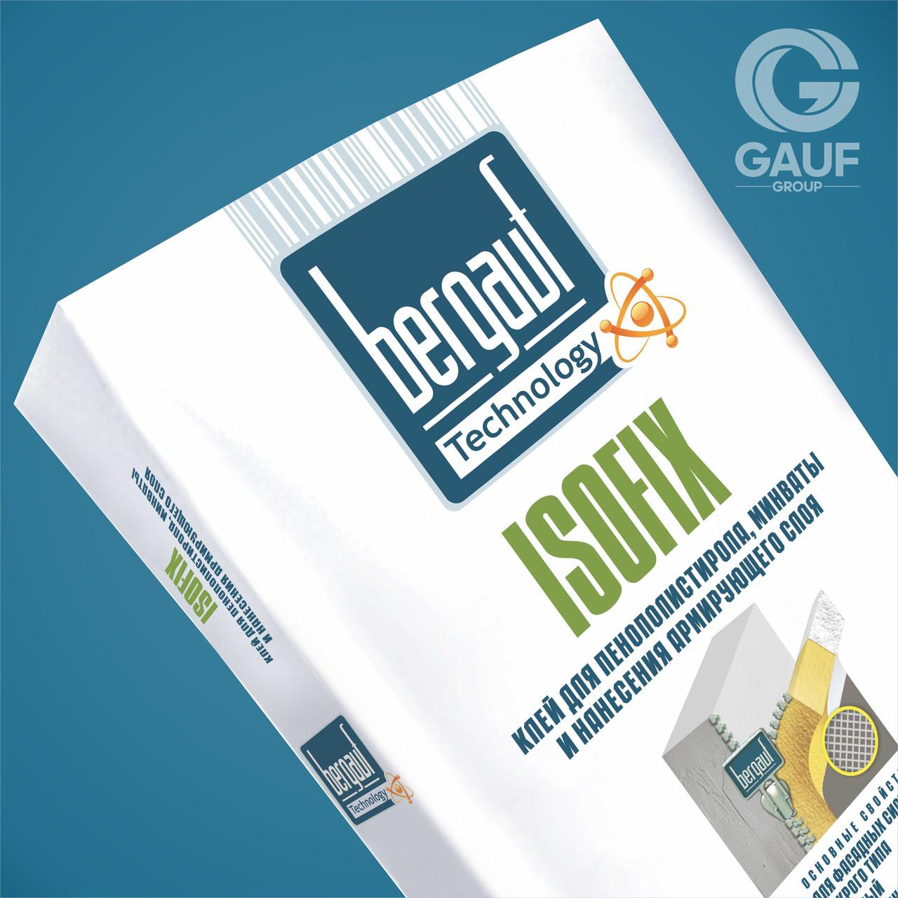 ISOFIX Клей для пенополистирола, минваты, 25 кг, Bergauf